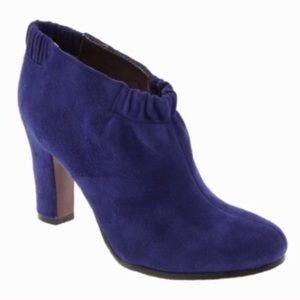 Sam Edelman Simone Heeled Booties Suede Purple 6